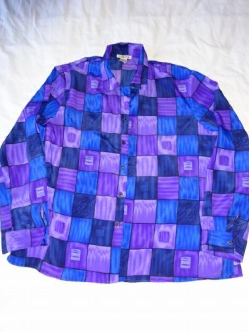 1990's Print Long Sleeve Shirt写真