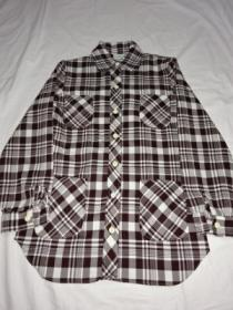 1970's Round Collar Check Shirt Jacket