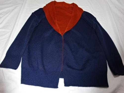 "Bi-Color Design Knit Jacket ""Y's""写真"