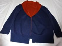 Bi-Color Design Knit Jacket