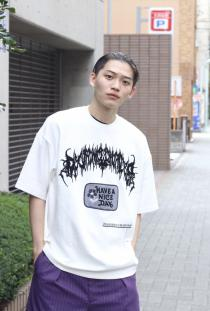 Children of the discordance 19AW OVERSIZED EMBROIDERY TEE