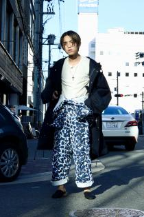 SUGARHILL 19-20AW ・LEOPARD CANVAS JUMPSUIT