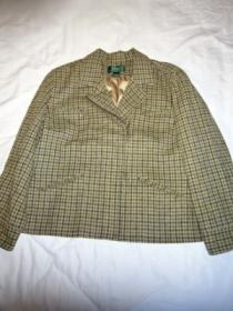 Design Wool Check Rider's Jacket