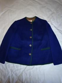 1960~70's Euro No Collar Tyrolean Jacket