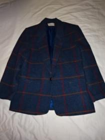 1980~90's Wool Check Tailored Jacket