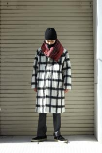 SYU. HOMME/FEMM 19-20AW -Modern singularity- for KING KRULE ・Vertical-line shaggy quilting Coat