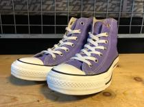 converse ALL STAR WASHED CANVAS HI (パープル) USED