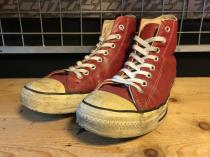 converse ALL STAR LEATHER HI (レッド) USED