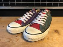 converse ALL STAR OX (グリーン/レッド/パープル) USED