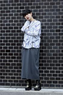 tiit tokyo 20ss marble gather blouse