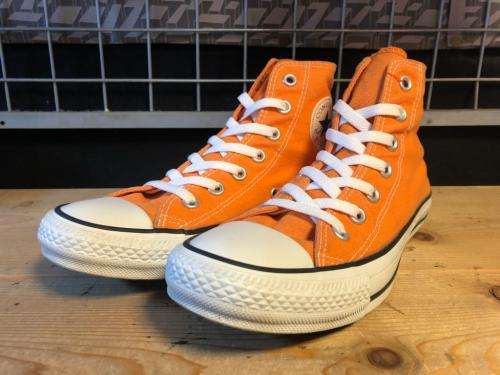 converse ALL STAR WASH-COLORS HI (オレンジ) USED写真