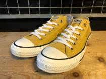 converse ALL STAR WASHEDCANVAS (ゴールド) USED