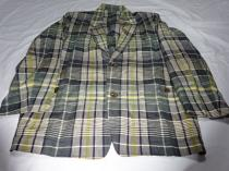 1990's Design Linen Check Tailored Jacket