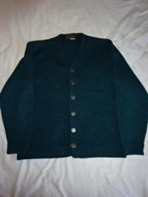 1960~70's V-Neck Metal Button Cardigan
