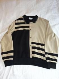 1980's Asymmetry Design Polo Collar Sweat
