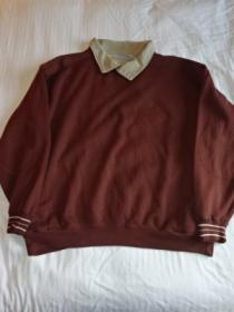 1990's Bi-Color 2Way Sweat with Elbow Patch