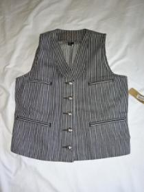 Hickory Stripe Shawl Collar Vest