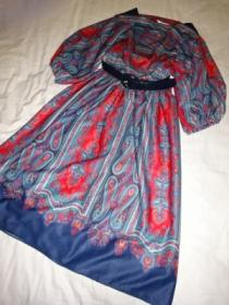 1970's Paisley Print One-Piece with Belt