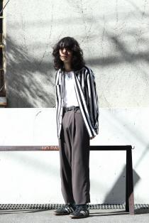 STYLING SAMPLE LITTLEBIG ・Stripe Open Collar Shirts [ー]Minus ・ADJUSTDR TROUSERS
