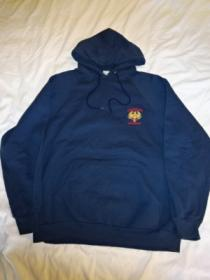 1980's Euro Embroidery Hooded Sweat
