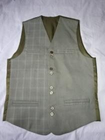 Switched Design V-Neck Vest