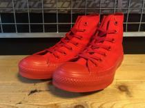 converse ALL STAR MONOCOLORS VD HI (レッド) USED