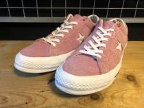 converse ONE STAR PREMIUM (ピンク/ホワイト) USED
