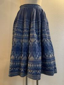 1960's Embroidery Gather Skirt