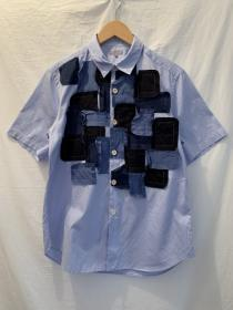 Patchwork Design Short Sleeve Shirt