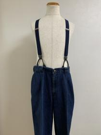 1980~90's Denim Tuck Suspender Pants