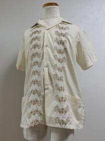 1970's Embroidery Cuba Shirt