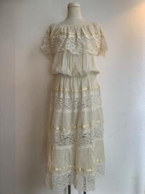 1960~70's Lace Tiered One-Piece