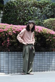 KONYA  2020 Spring Summer Collection ・Suspenders pants