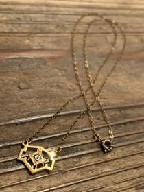 1950's Freemason Symbol Top Necklace