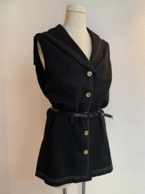 1960~70's Sailor Collar No Sleeve Blouse