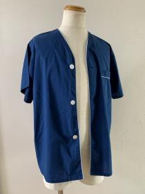 1980~90's Piping Design No Collar Shirt