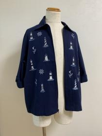 1990's Embroidery Half Sleeve Summer Jacket
