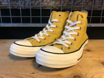 converse ALL STAR WASHED CANVAS HI (ゴールド) USED