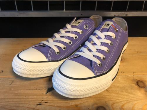converse ALL STAR WASHEDCANVAS OX (パープル) USED写真