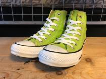 converse ALL STAR COLORS HI (ライムグリーン) USED