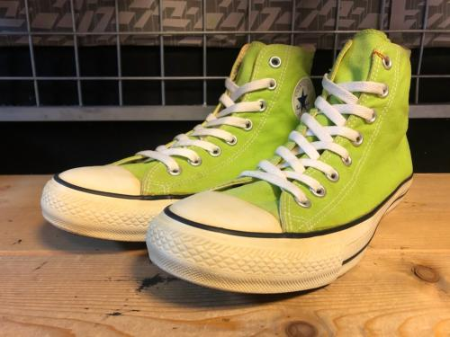 converse ALL STAR COLORS HI (ライムグリーン) USED写真