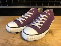 converse ALL STAR OX (パープル) USED
