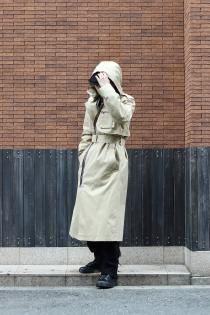 YUKI HASHIMOTO 2021 Spring Summer Collection  ・DETACHABLE HOODED TRENCH COAT ・ASTRONAUT DETAIL COAT