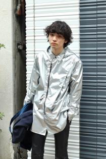 YUKI HASHIMOTO 2021 Spring Summer Collection  ・SILVER DETACHABLE HOODED SHIRTS
