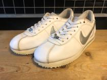 NIKE CORTEZ LEATHER (ホワイト/シルバー) USED