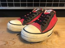 converse ALL STAR OX (レッド/ブラック) USED