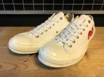 converse × PLAY COMME des GARCONS CDG CHUCK TAYLOR (ホワイト) USED