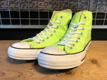 converse ALL STAR HI (ライムグリーン) USED