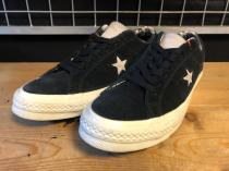 converse ONE STAR OX (ブラック/マウス/エグラット) USED