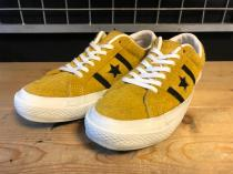 converse STAR &BARS SUEDE (ゴールド/ブラック) USED